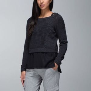 Lululemon be present cropped sweater